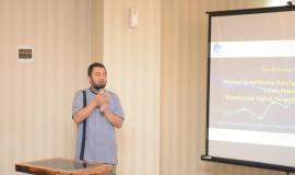 Tata Hadinata Seksi Pengelolahan data Operasi Sumber Daya selaku Moderator dalam acara Manfaatkan Big Data SDPPI untuk Transformasi Digital 7/11/2019