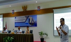 Narasumber dari Direktorat Pengendalian SDPPI Gunadi Penggunaan perangkat telekomunikasi radio sesuai dengan ketentuan yang berlaku mendukung keselamatan pelayaran 13/11/2019