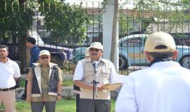 Direktur Jenderal Sumber Daya dan Perangkat Pos dan Informartika (Dirjen SDPPI) Ismail pada kegiatan simulasi Dukom Kebencanaan di GOR Arcamanik Bandung, Jumat (15/11/2019).