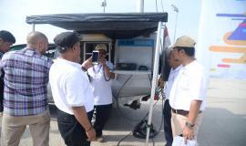Kepala Bagian Perencanaan dan Pelaporan Ditjen SDPPI  (Aryo Pamorgung) ikut hadir mengecek kesiapan mobil monitoring balmon Bandung dalam rangka Simulasi Dukom Kebencanaan Menjaga Jalinan Komunikasi antar Stakeholder 1511/2019