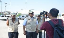Dirjen SDPPI Ismail (tengah)  di dampingi Direktur Standardisasi Moh.Hadiyana (kanan) dan Direktur Operasi Sumber Daya PPI (Dwi Handoko) kiri sedang dilakukan wawancara pada TV Swasta terkait dengan Simulasi Dukom Kebencanaan Menjaga Jalinan Komunikasi antar Stakeholder 15/11/2019
