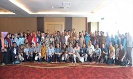 Foto Bersama Sesditjen SDPPI (R.Susanto) tengah bersama Peserta Workshop Analisis Beban Kerja Tahun 2019, 26/11/2019