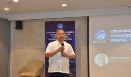Sesditjen SDPPI R. Susanto memberikan sambutan pada kegiatan Capacity Building Creating Digital Leaders and Engaged Digital Team in Digital Transformation Era di GoWork FX Sudirman, Jakarta (16/12).