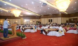 Suasana pada acara Pembukaan Pusat Pelayanan Terpadu Ditjen SDPPI tahun 2020 di Gedung Wisma Antara dan Persiapan Zona Integritas Menuju Wilayah Birokrasi Bersih dan Melayani (WBBM) tahun 2020 (14/1).